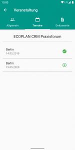 Verbände-App - Veranstaltungen